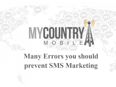 Many Errors you should prevent SMS Marketing