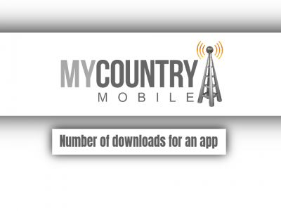 Number of downloads for an app