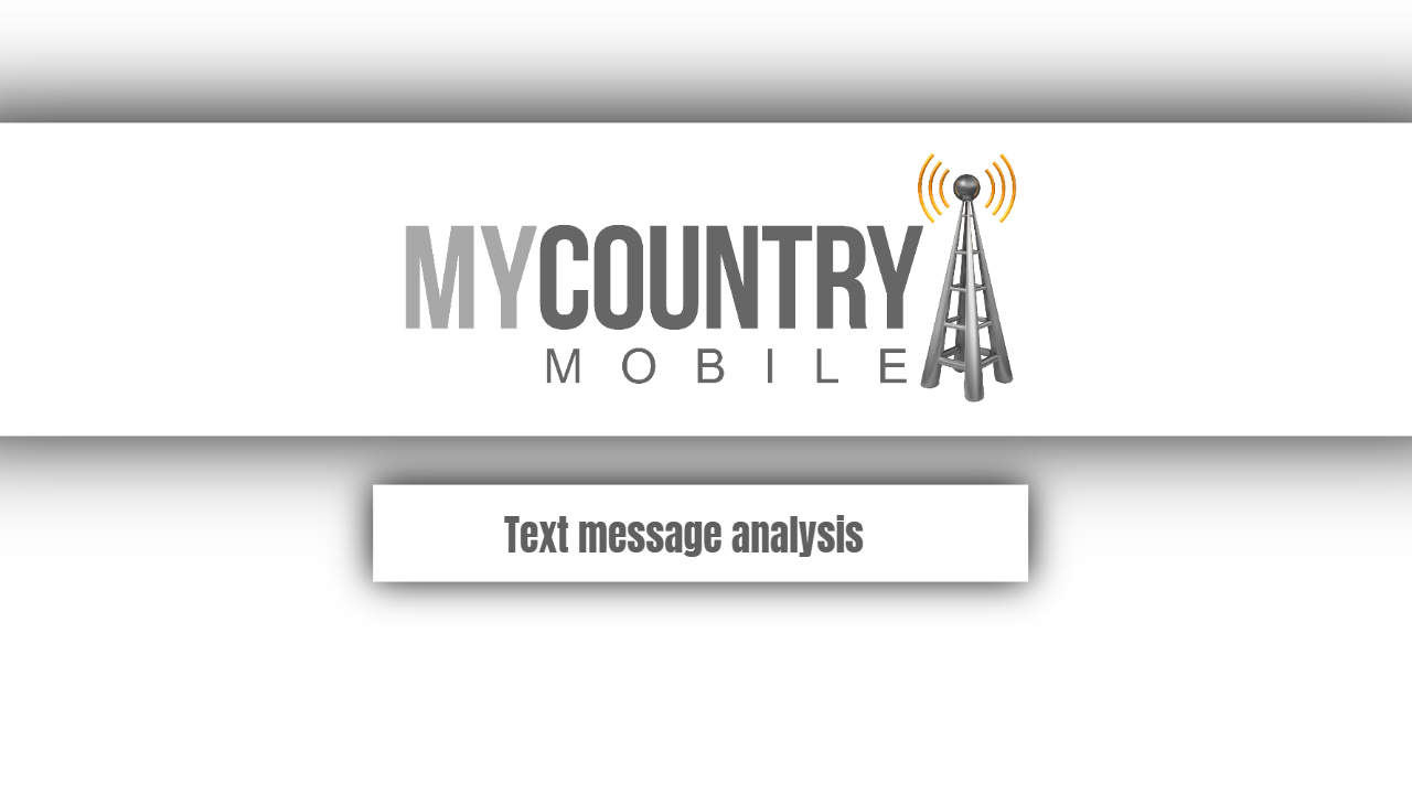 Text message analysis