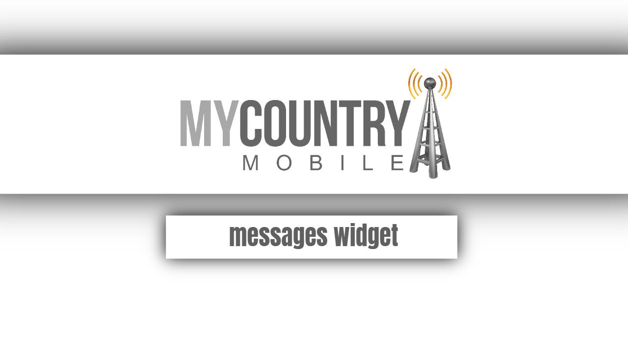 Messages widget