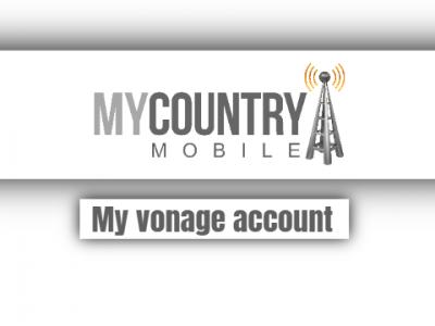 My Vonage Account