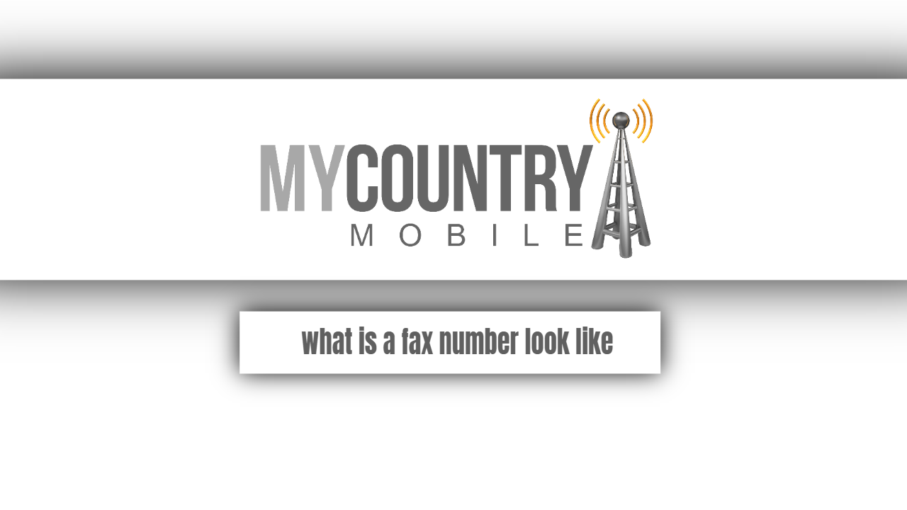 What is a fax number look like?
