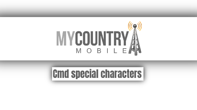 Cmd special characters