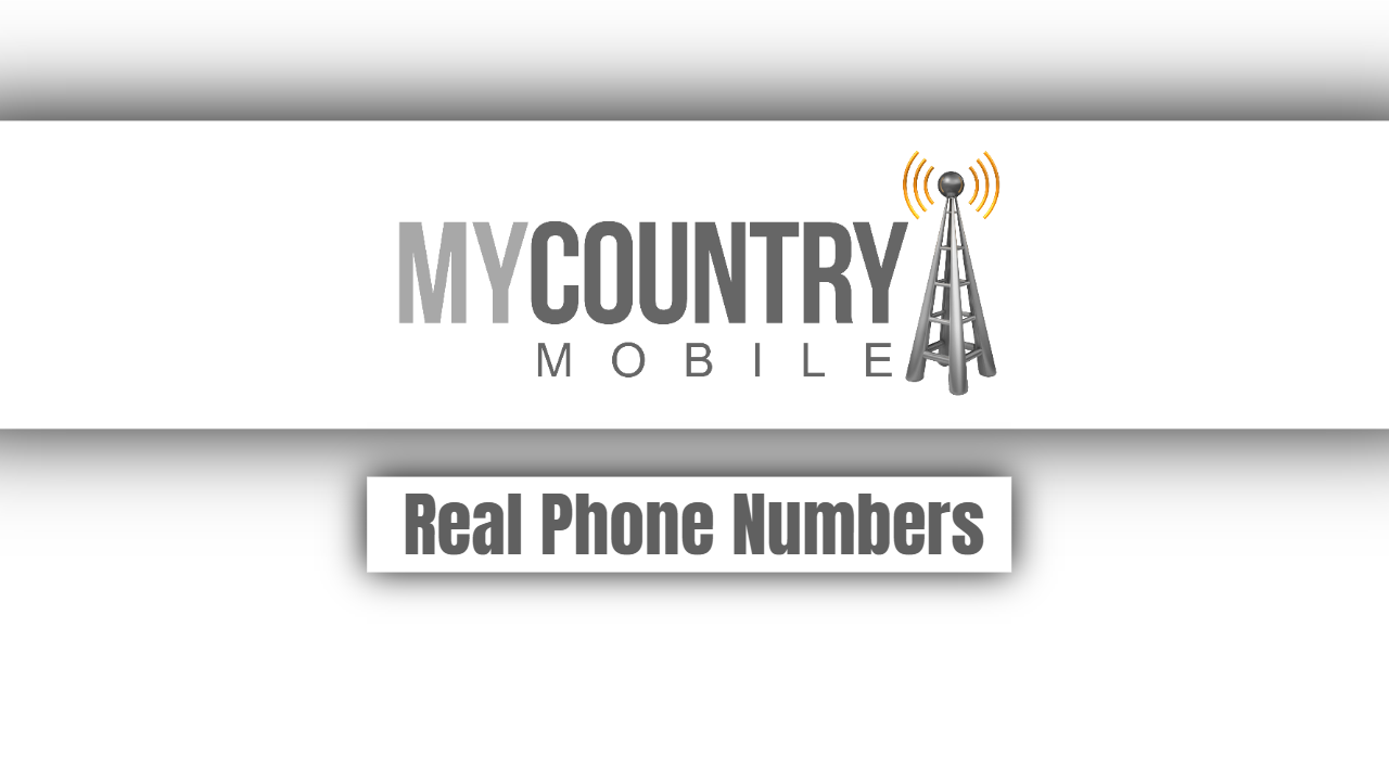 Real Phone Numbers