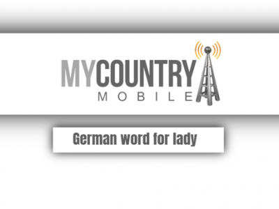 German word for a lady