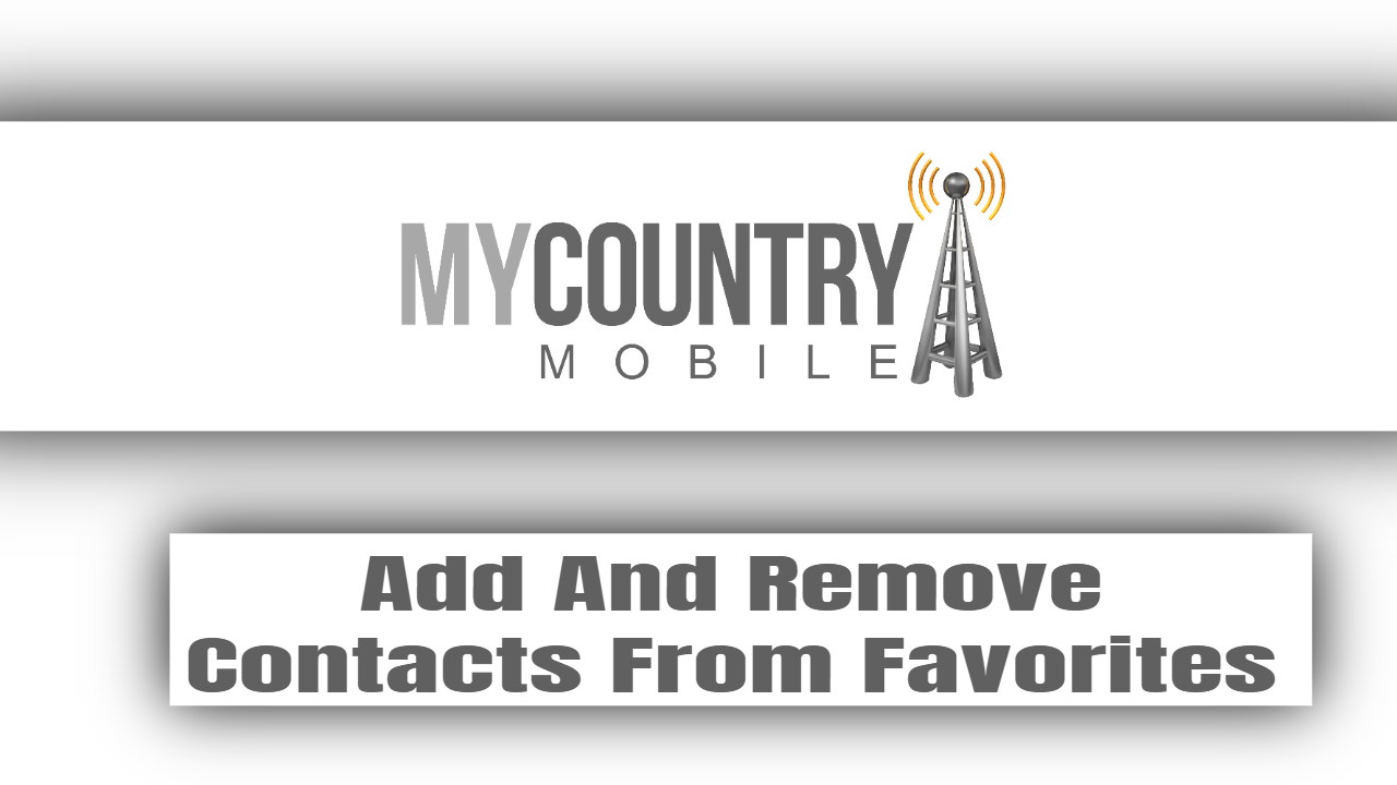 Add And Remove Contacts From Favorites