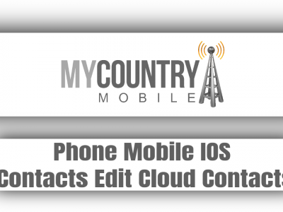Phone Mobile IOS Contacts Edit Cloud Contacts