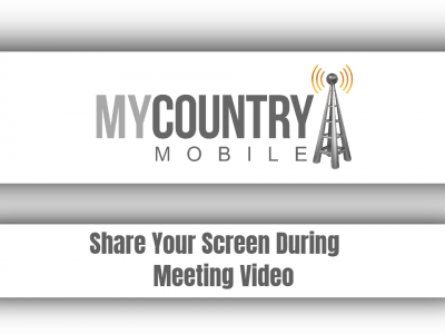Share Your Screen During Meeting Video