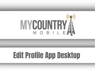 Edit Profile App Desktop