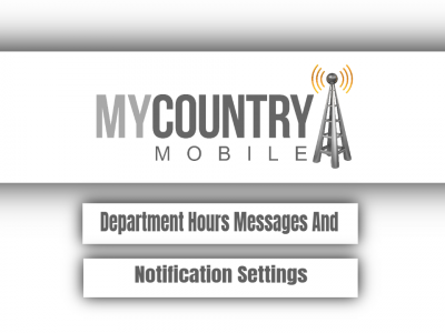 Department Hours Messages And Notification Settings