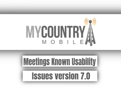 Meetings Known Usability Issues version 7.0