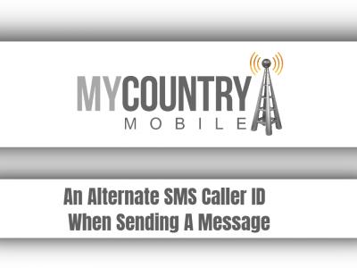 An Alternate SMS Caller ID When Sending A Message