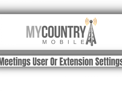 Meetings User Or Extension Settings