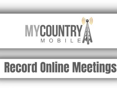 Record Online Meetings
