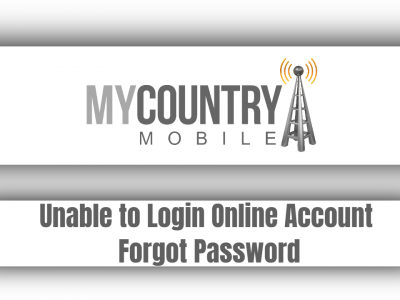Unable to Login Online Account Forgot Password