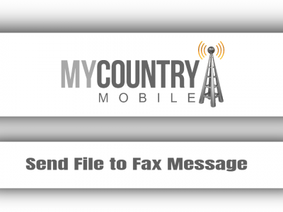 Send File to Fax Message