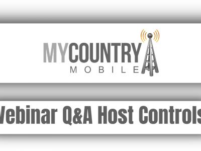 Webinar Q&A Host Controls