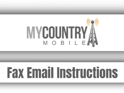 Fax Email Instructions