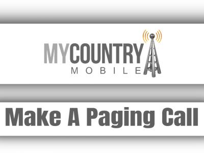 Make A Paging Call