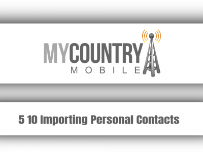 5 10 Importing Personal Contacts