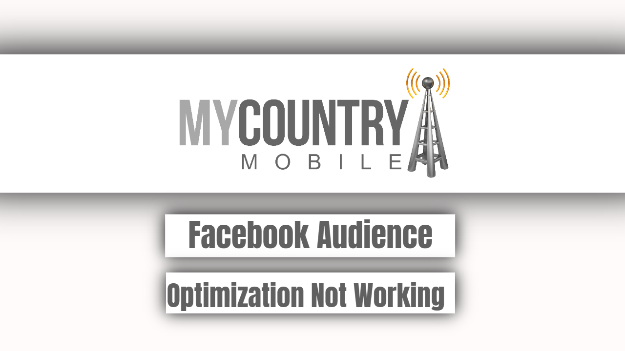 Facebook Audience Optimization Not Working