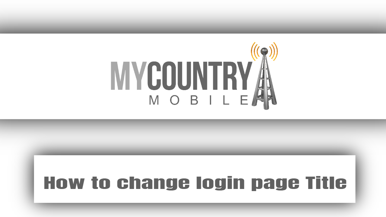 How to change login page Title