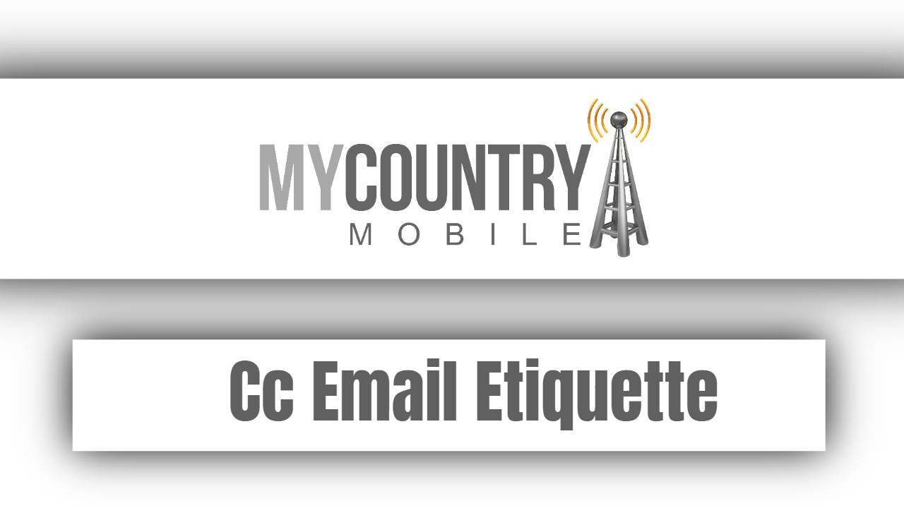Cc Email Etiquette
