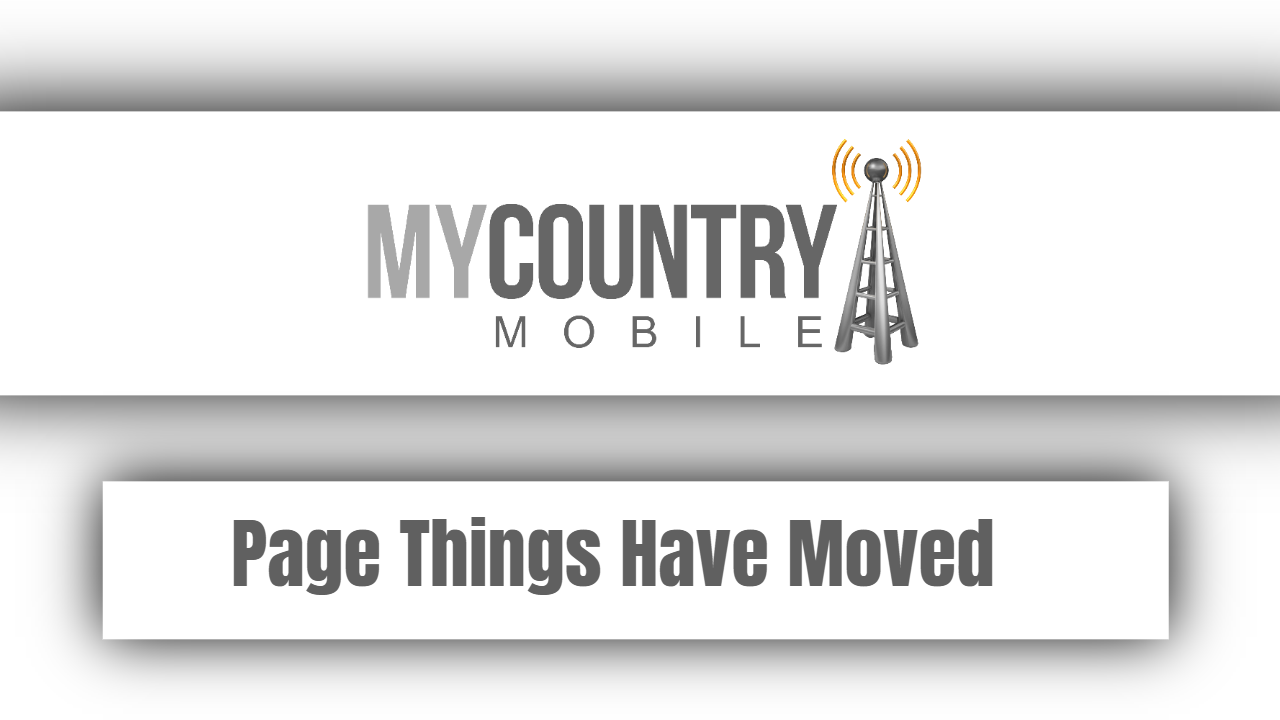 Page Things Have Moved