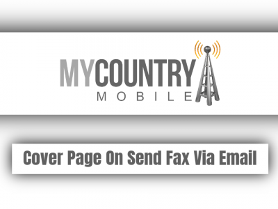 Cover Page On Send Fax Via Email